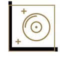 pictogramme du disque bâoli blanc et doré