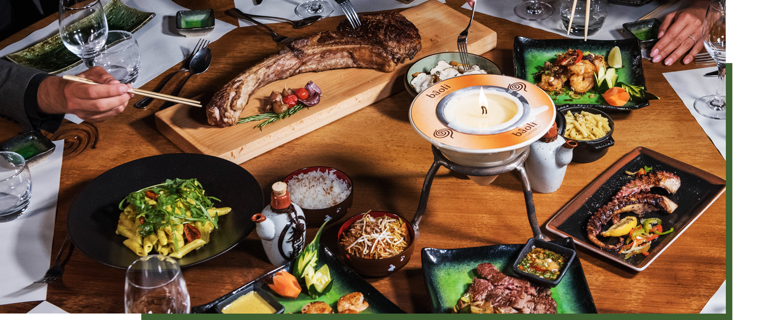 restaurant bâoli dégustation de viandes et poissons