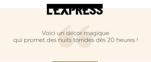 critique presse du magazine l'express sur le décor magique du bâoli cannes
