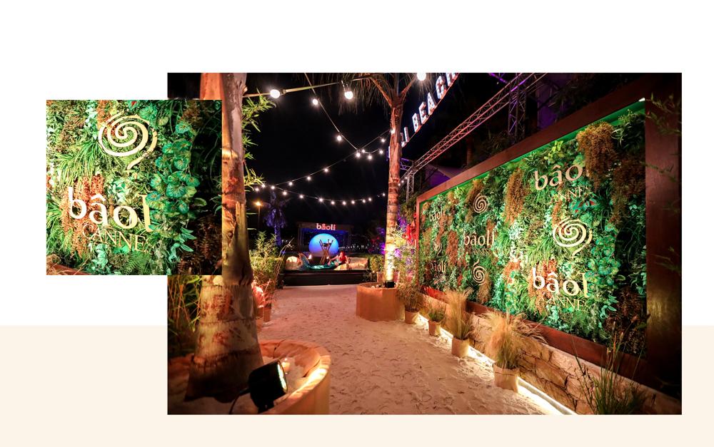décoration tropicale pour une ambiance jungle à l'extérieur du bâoli