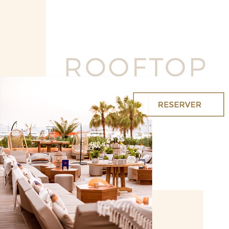 toit terrasse du cloud nine rooftop et bouton pour réserver une table
